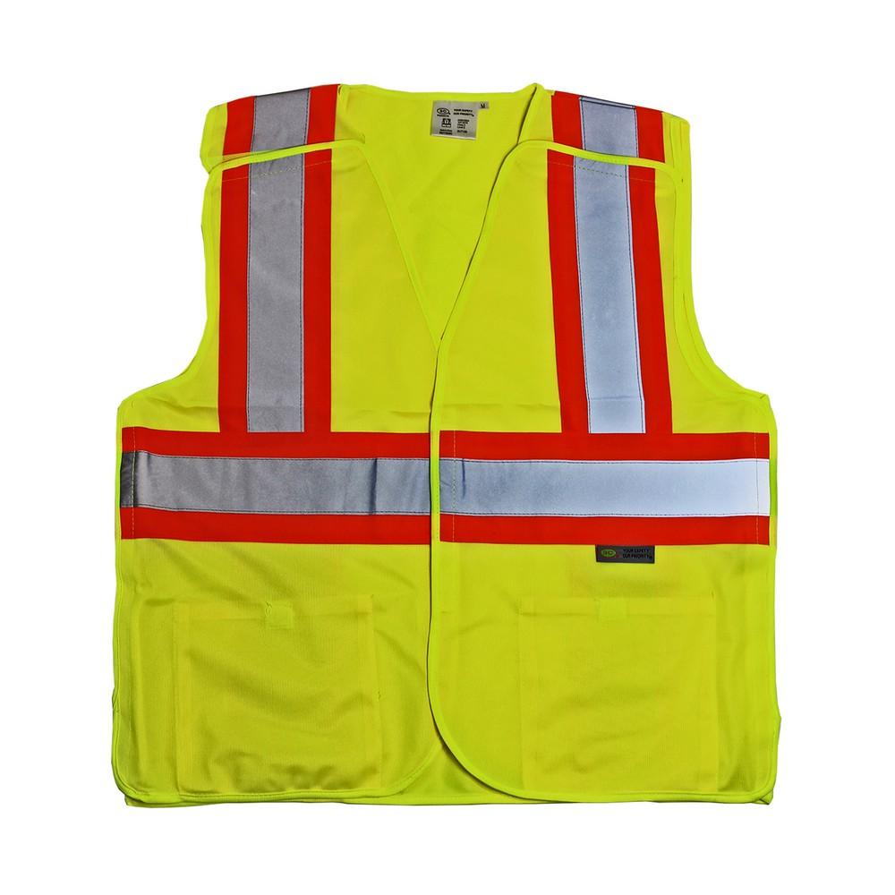 Yellow ANSI Class 2 Breakaway Reflective Vest (select size)
