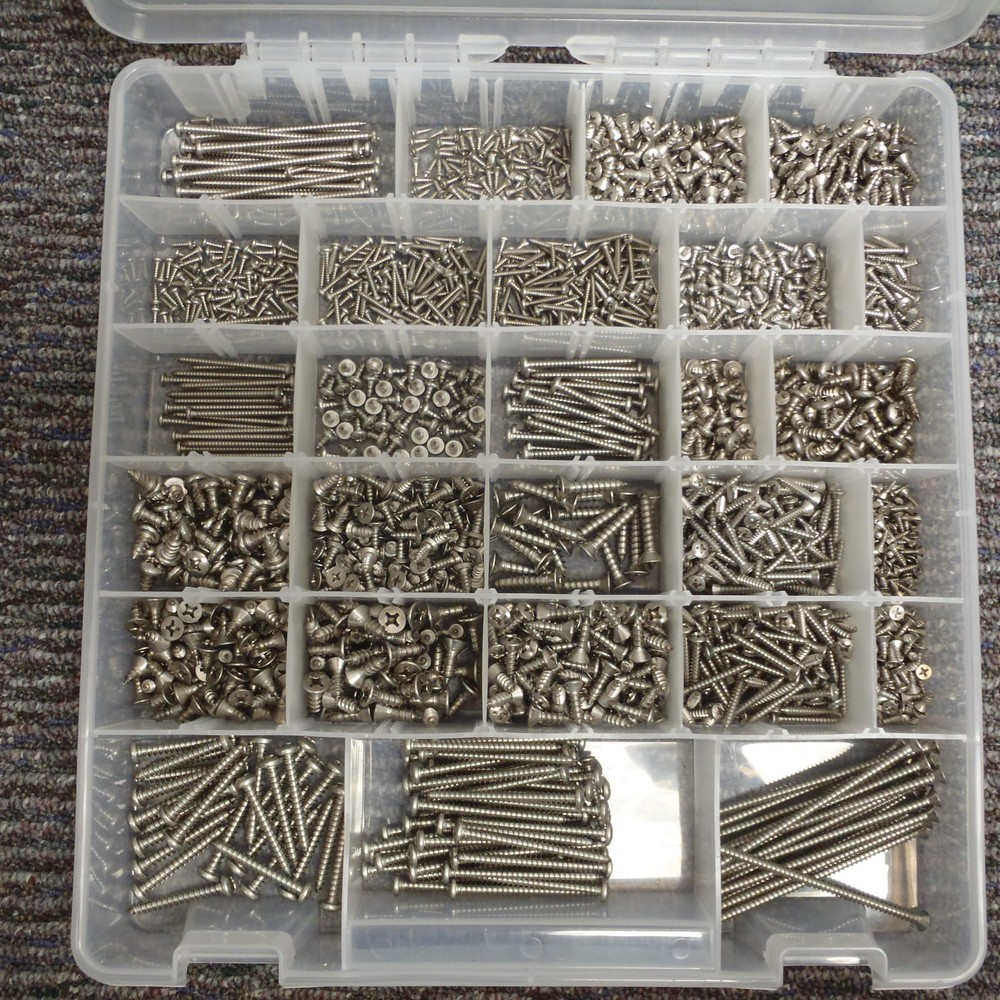 18-8 SS Sheet Metal Screw Kit - SHEET METAL SCREW ASST SS