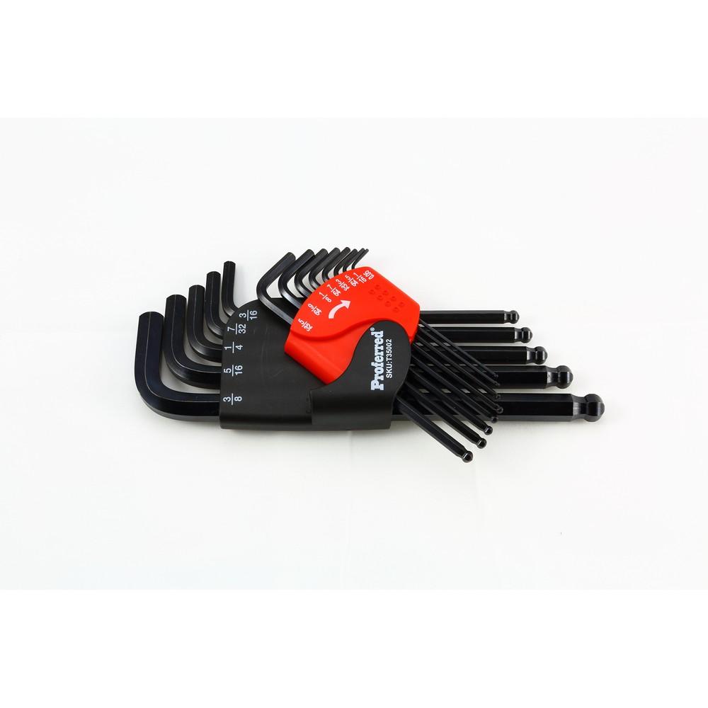 Long Arm Ball Point HEX Key Set (SAE) -T35002