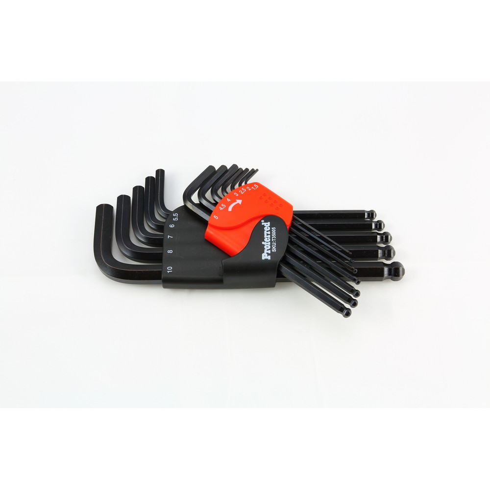 Long Arm Ball Point HEX Key Set (Metric) -T35005