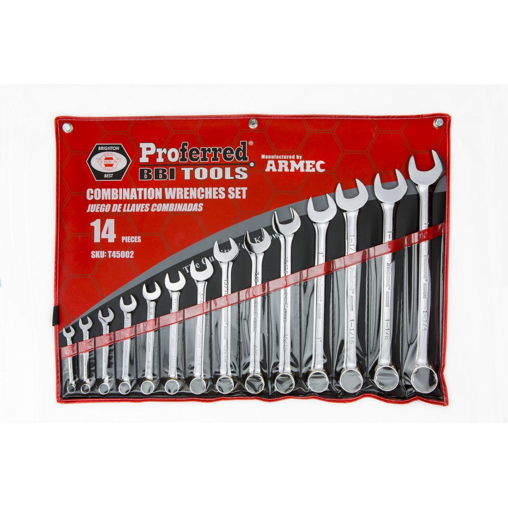 14 Piece 12 pt. Combination Wrench Set -T45002