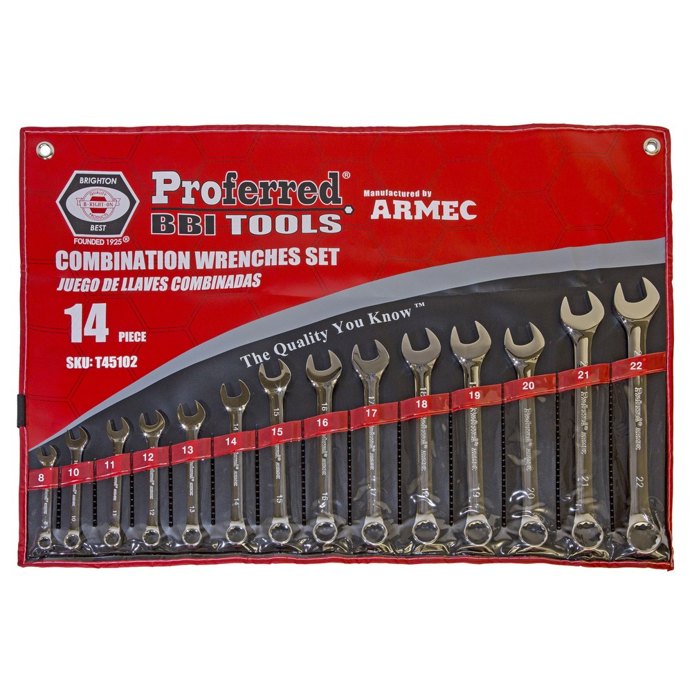 14 Piece 12 pt. Combination Wrench Set Metric -T45102
