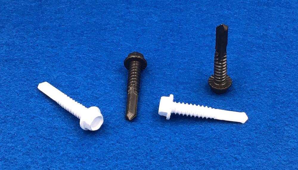 "#14 x 1-3/8"" Self Drilling Screws Hex Washer Head Coarse Thread 5/16 Hd #5 Point 2000HR"